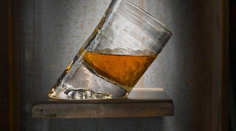 Glassblower Ben Slanted Bar Glasses hold more when held upright